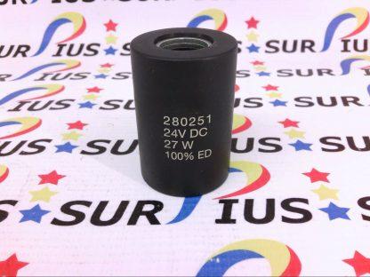 Bucher 280251 Valve Coil 24vdc 27w Solenoid 24v DC