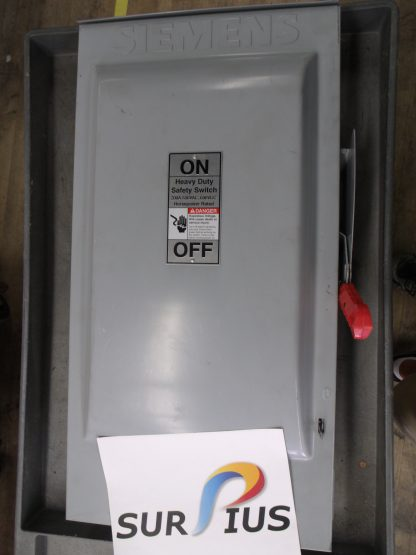 Siemens Fusible Heavy Duty Safety Switch HF364R 600V AC MAX Rainproof