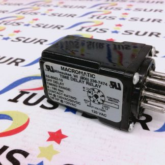 Macromatic SS-8562-10 SS856210 Timer 8 Pin Time Delay Relay 120Vac 5A 1/6HP