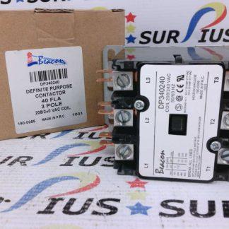 Beacon DP340240 Definite Purpose Contactor 40 FLA 3 Pole 208/240 VAC Coil