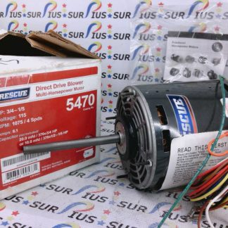 US Motors Rescue 5470 Direct Drive Blower Multi-HP Motor K055DVV1285012B
