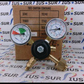 Taprite 3741 Primary CO2 Pressure Regulator Dual Gauge