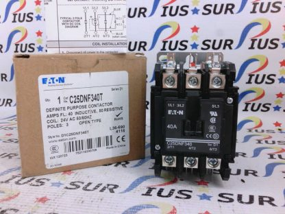 Eaton C25DNF340T Definite Purpose Contactor D1C25DNF340T