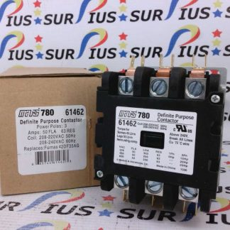 Mars 61462 Definite Purpose Contactor 3 Poles 50 FLA 208/240 VAC