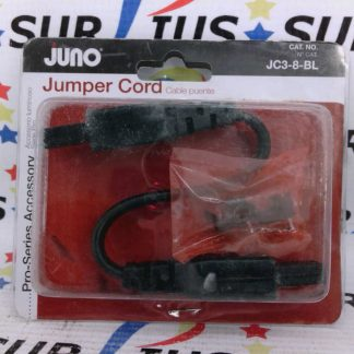 "Juno JC3-8-BL JC38BL Pro-Series 3 Wire Grounded 8"" Jumper Cord"