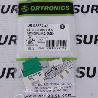 Ortronics OR-KS5EA-45 CAT5E Keystone Jack Green