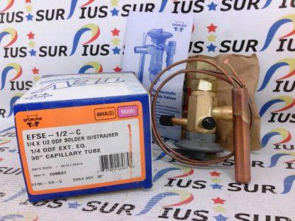 Sporlan EFSE-1/2-C 1/4 X 1/2 ODF Solder With Strainer 30 Inch Capillary