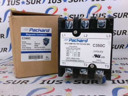 Packard C350C Magnetic Contactor 3 Pole 60 Amp 208/240 Coil Voltage