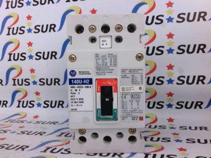 Allen Bradley 140U-H2C3-C80 A 140U-H2 3 Pole Circuit Breaker 80A