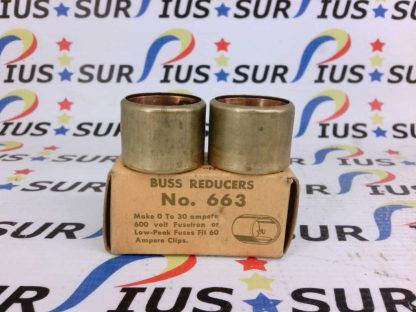 Bussmann 30 AMPS Buss Reducers Caps 663 600V 1 Pair Box of 2