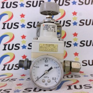 SMC Pneumatic Precision Regulator IR2010-N02GB With Guage and Bracket