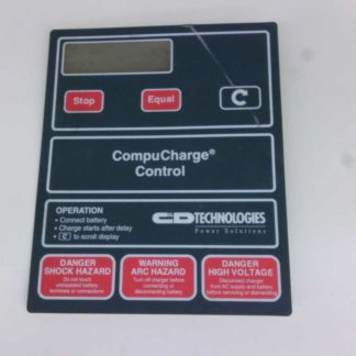 Ferro CompuCharge Control Operators Button Control Panel Membrane 090800