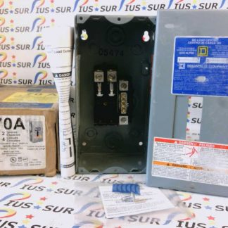SQUARE D QO Load Center QO2-4L70S G02 Series Single Phase 120/240V 50/60Hz