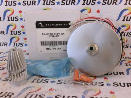 "TECH Lighting 700FJ4RFS-LED Free Jack 4"" Satin Nickel Flush Round Canopy"