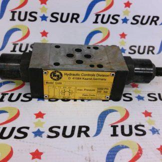 Hydraulik Ring HDRA01A06D3 Hydraulic Controls Division Valve 5000 PSI