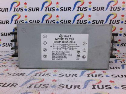 Okaya 3SUP-HL30-ER-6 3AC 500V 30A 50/60Hz Noise Filter