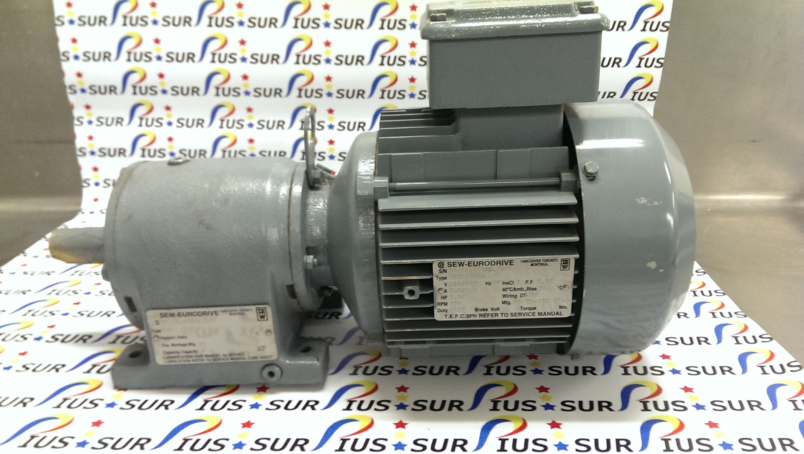 Awe Inspiring Sew Eurodrive 1 5Hp Electric Motor R40Dt90S4 R40 6 17 1 276Rpm 230 Wiring Digital Resources Ommitdefiancerspsorg