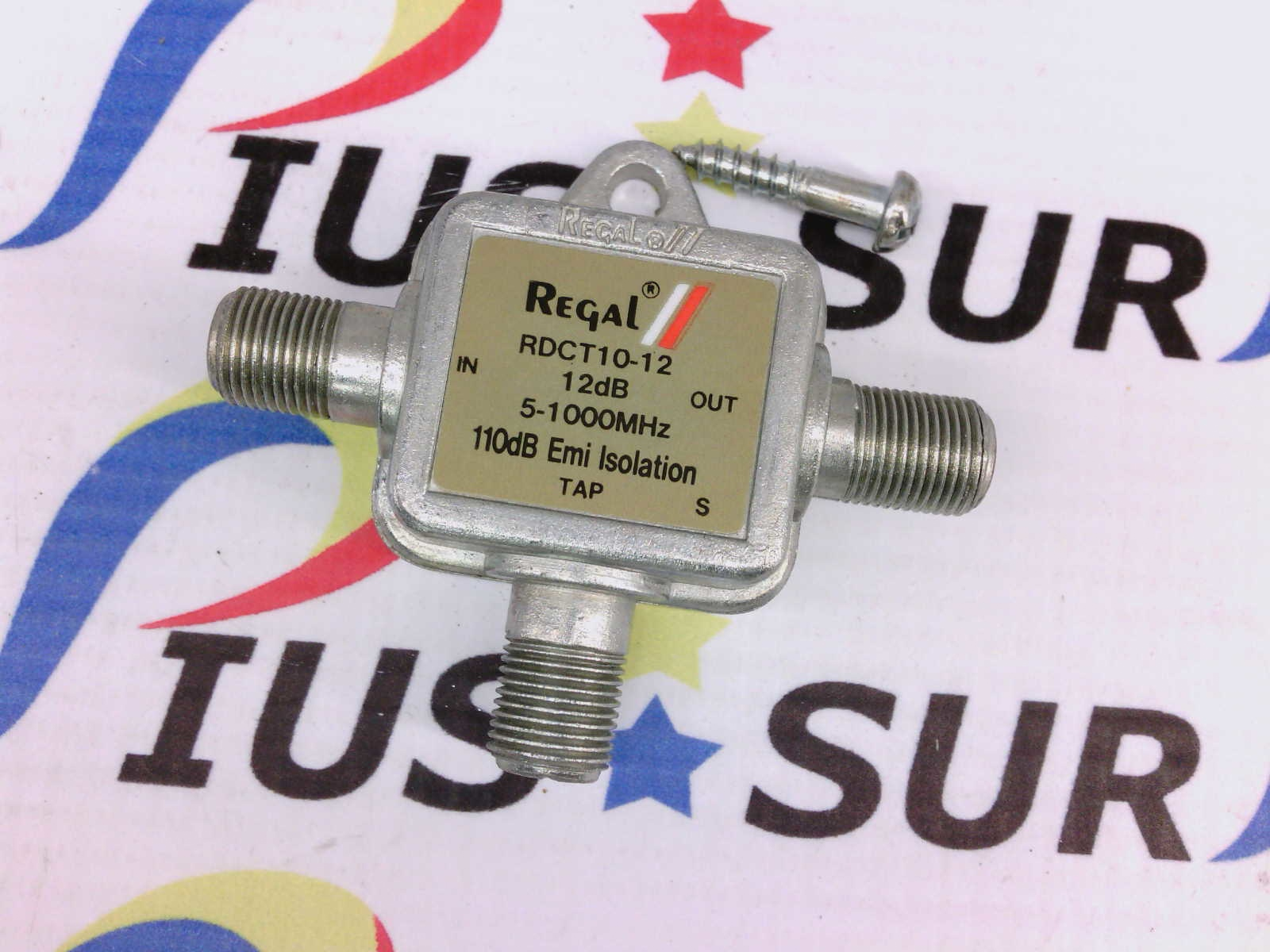 Regal RDCT10-12 Directional Coupler 12 dB 5-1000 MHz Cable/Antenna Splitter
