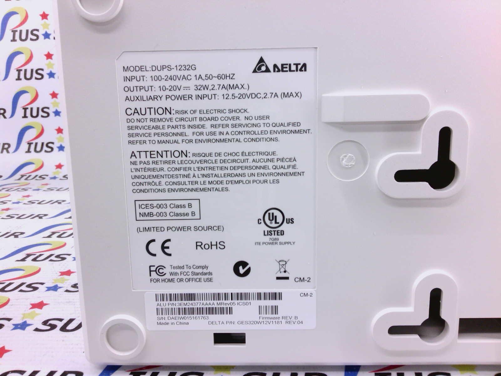 Delta DUPS-1232G DUPS-1232 UPS Uninterruptible Power Supply Battery Backup